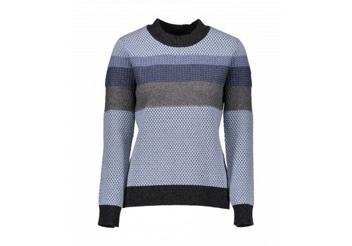 OBERMEYER OBERMEYER CHEVOIT CREWNECK SWEATER ICESCAPE BLUE-17061
