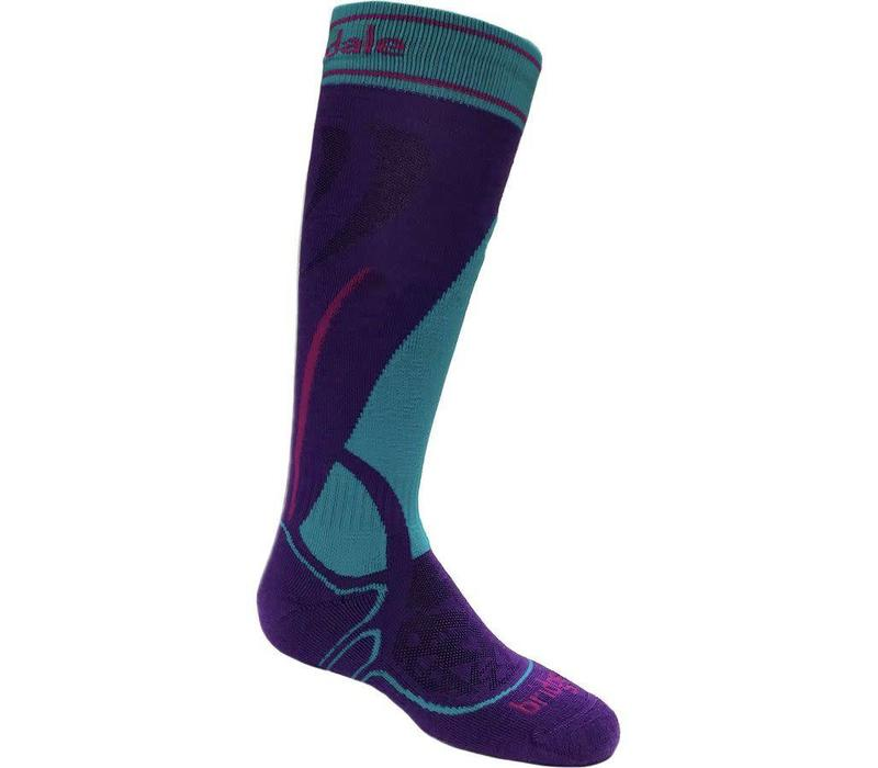 BRIDGEDALE SKI JUNIOR RACER PURPLE/TURQUOISE-063