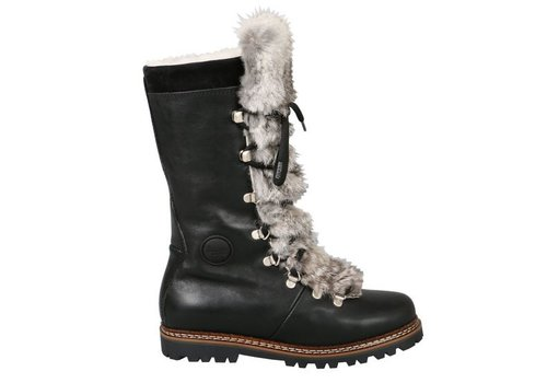 AMMANN AMMANN MALIX BLACK LEATHER & RABBIT FUR