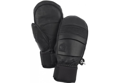 HESTRA HESTRA LEATHER FALL LINE - MITT BLACK-100