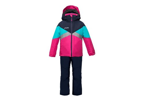 PHENIX PHENIX VENUS GIRLS JACKET DN-DARK NAVY WITH KIDS SALOPETTE DN-DARK NAVY