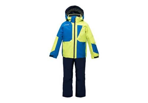 PHENIX PHENIX MASH IV KIDS JACKET YG-YELLOW GREEN WITH KIDS SALOPETTE BL-BLUE