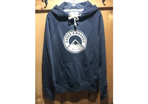 GATES AND BOARDS G&B Mens Hoody - Heather Navy