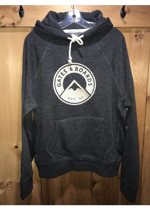 GATES AND BOARDS G&B Mens Hoody - Heather Black