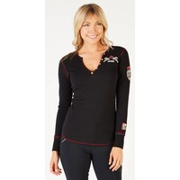 ALP-N-ROCK CANADIAN CABIN HENLEY SHIRT BLACK-BLK