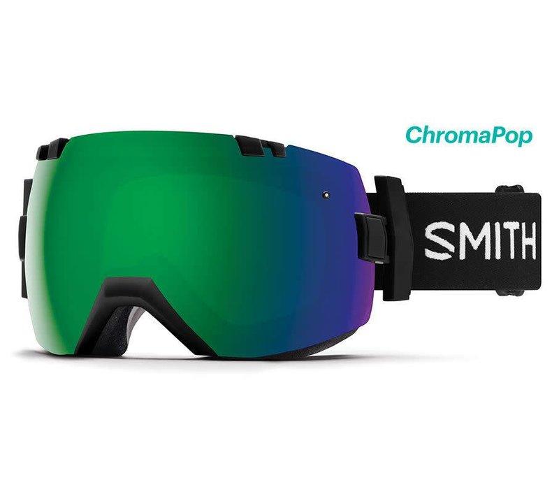 SMITH I/OX BLACK-ChromaPop Sun Green Mirror+CHROMAPOP STORM ROSE FLASH