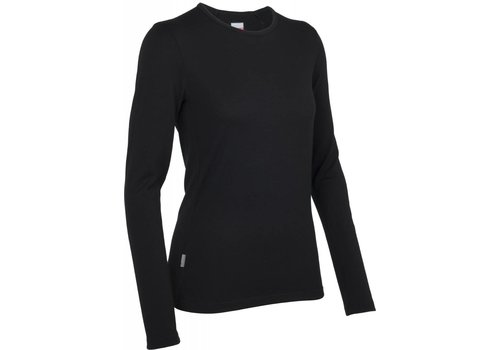 ICEBREAKER Icebreaker Wmns Tech Top LS Crewe Black-001
