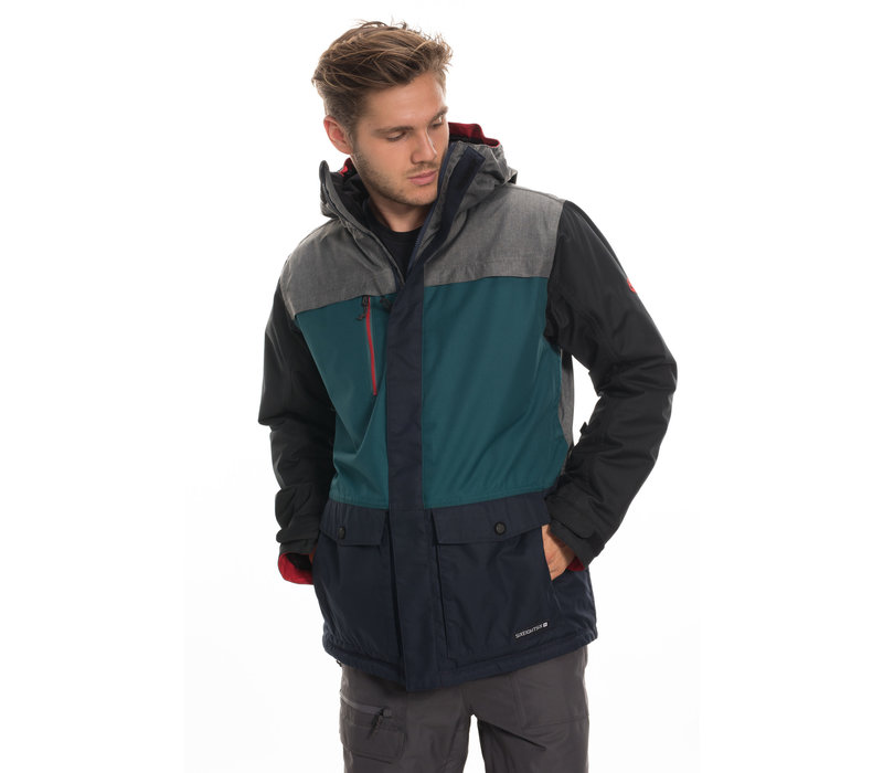 686 MNS ANTHEM INSULATED JACKET (19/20) GREY MELANGE COLORBLOCK-GRY