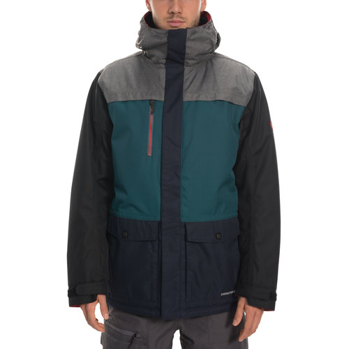 686 686 MNS ANTHEM INSULATED JACKET (19/20) GREY MELANGE COLORBLOCK-GRY
