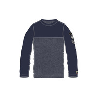 ALP-N-ROCK SKI PATCH MEN'S CREW SHIRT (19/20) NAVY