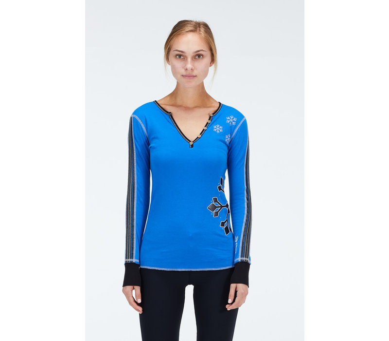 ALP-N-ROCK SNOW RACER HENLEY SHIRT (19/20) ROYAL