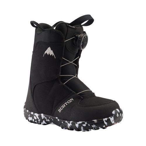 BURTON Burton Kids Grom Boa Boot (20/21) Black-001