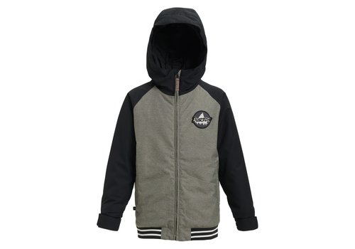 BURTON BURTON KIDS' GAMEDAY JACKET (19/20) BOG HEATHER / TRUE BLACK-020