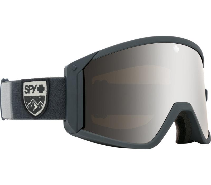 SPY RAIDER COLORBLOCK GRAY - HD BRONZE W/ SILVER SPECTRA MIRROR + HD LL PERSIMMON (19/20)