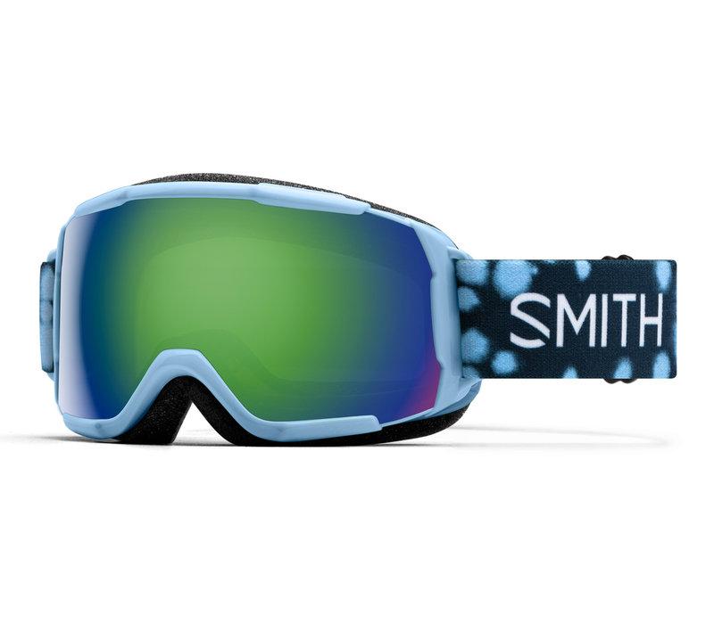 SMITH GROM (19/20) SMOKEY BLUE DOTS-GREEN SOL-X MIRROR