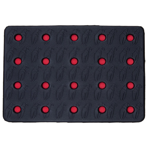 CRAB GRAB CRAB GRAB HOLEY SHEET  (19/20) BLACK RED