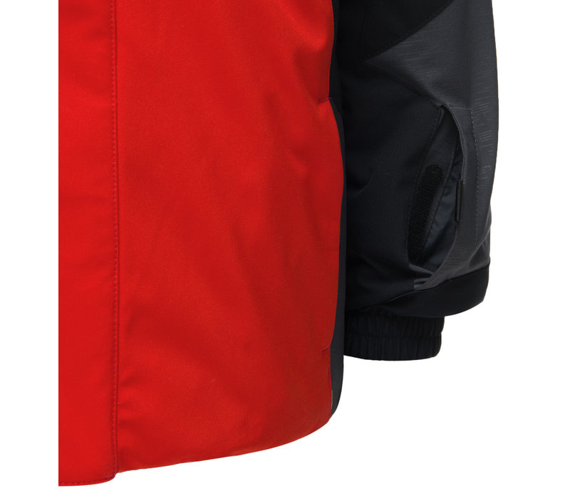 SPYDER MINI CHALLENGER JACKET WITH MINI EXPEDITION PANT (19/20) 620 VOLCANO/001 BLACK