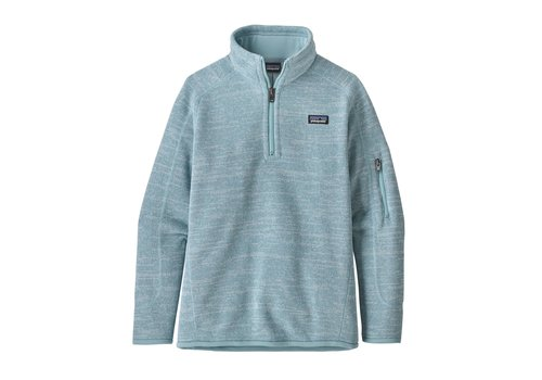PATAGONIA PATAGONIA GIRLS' BETTER SWEATER® 1/4-ZIP  (19/20) BIG SKY BLUE-000-BSBL