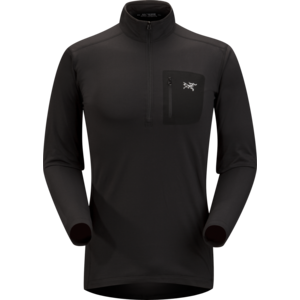 ARCTERYX ARCTERYX RHO LT ZIP NECK MEN'S (19/20) BLACK-BLK