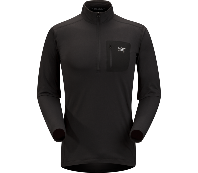 ARCTERYX RHO LT ZIP NECK MEN'S (19/20) BLACK-BLK