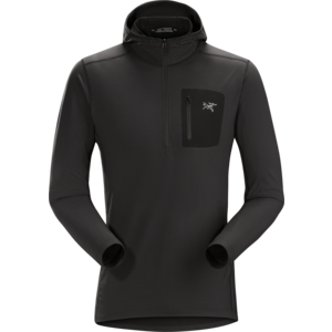 ARCTERYX ARCTERYX RHO LT HOODED ZIP NECK MEN'S (19/20) BLACK-BLK
