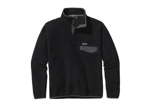 PATAGONIA PATAGONIA M'S LIGHTWEIGHTSYNCHILLA®SNAP-T®PULLOVER  (19/20) BLACK W/FORGE GREY-630-BFO