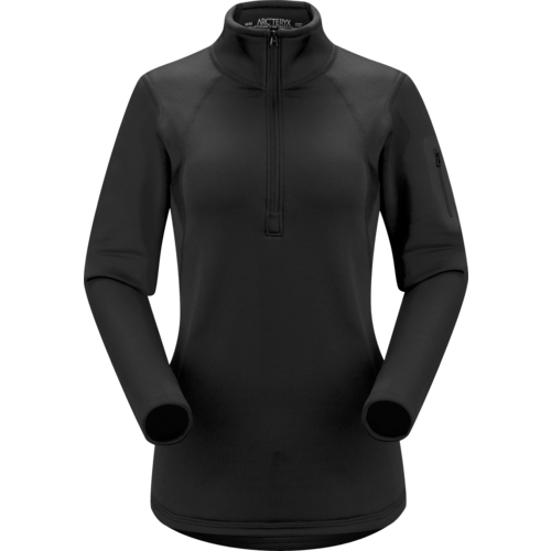 Arcteryx Arc'Teryx Rho Ar Zip Neck Womens (20/21) Black *Final Sale*