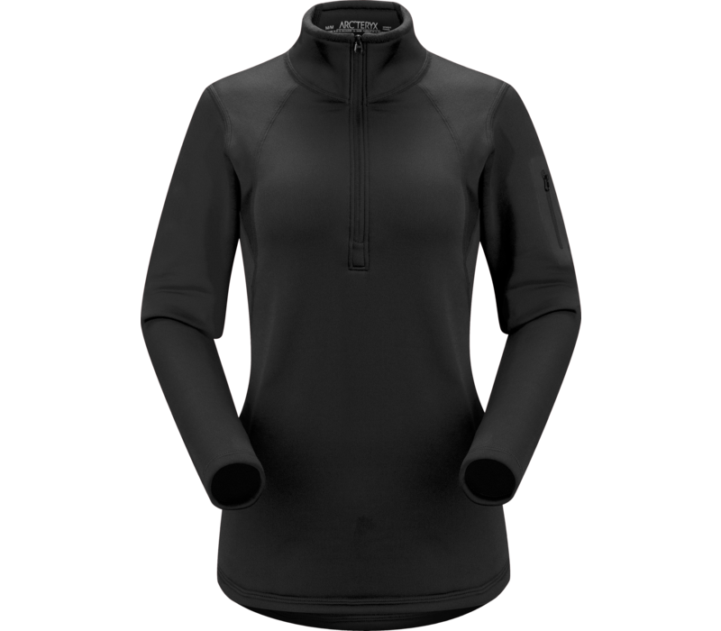 ARCTERYX RHO AR ZIP NECK WOMEN'S (19/20) BLACK-BLK
