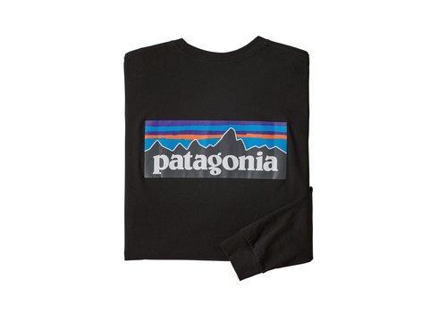 PATAGONIA PATAGONIA M'S LONG-SLEEVED P-6 LOGO RESPONSIBILI-TEE®  (19/20) BLACK-155-BLK