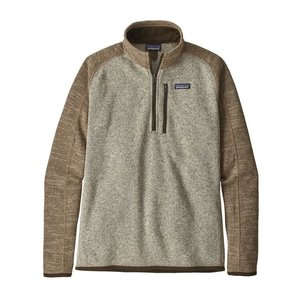 PATAGONIA PATAGONIA M'S BETTER SWEATER® 1/4-ZIP  (19/20) BLEACHED STONE W/PALE KHAKI-000-BLPA