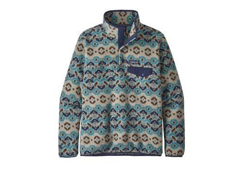 PATAGONIA PATAGONIA W'S LIGHTWEIGHT SYNCHILLA® SNAP-T® PULLOVER  (19/20) TUNDRA CLUSTER: BIG SKY BLUE-000-TCBS
