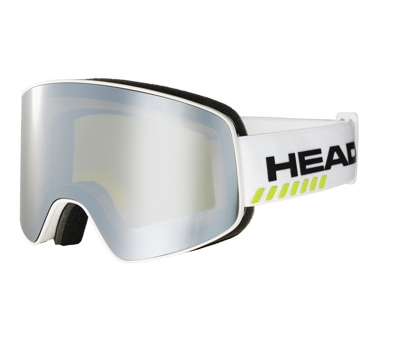 HEAD HORIZON RACE + SPARE LENS (19/20) WHITE/LIME