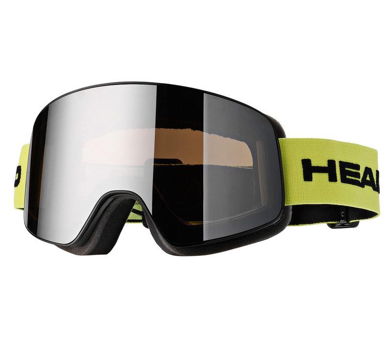 HEAD HORIZON RACE LIME + SPARE LENS