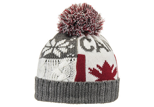 BULA BULA FLAG BEANIE (19/20) HEATHER GREY