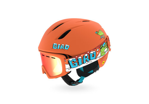 GIRO GIRO LAUNCH CP (19/20) MAT DEEP ORANGE DINO