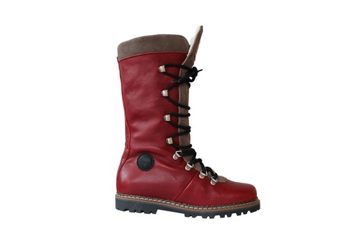 AMMANN AMMANN MALIX (19/20) RED LEATHER & TAUPE SUEDE TONGUE