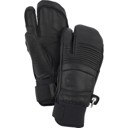HESTRA HESTRA LEATHER FALL LINE - 3 FINGER (19/20) BLACK-100