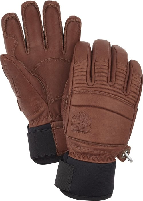 HESTRA HESTRA LEATHER FALL LINE - 5 FINGER (19/20) BROWN-750