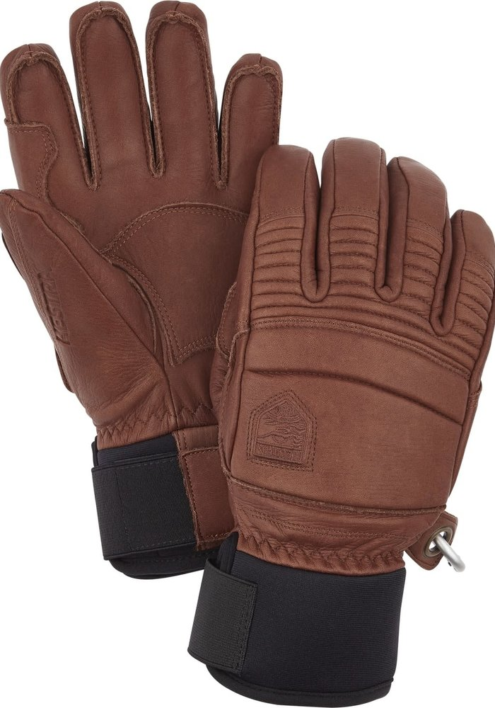 HESTRA LEATHER FALL LINE - 5 FINGER (19/20) BROWN-750