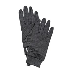HESTRA HESTRA MERINO WOOL LINER ACTIVE - 5 FINGER (19/20) CHAROCOAL-390 *Final Sale*