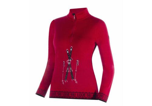 NEWLAND NEWLAND MAZ LADY T-NECK (19/20) RED/BLACK-0153
