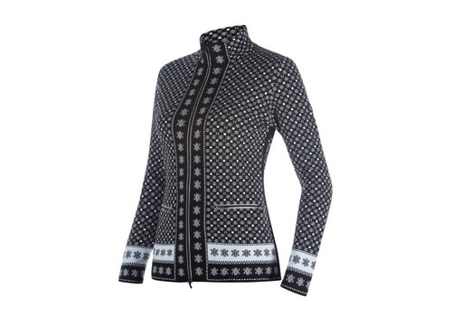 NEWLAND NEWLAND MILADY LADY FULL ZIP (19/20) BLACK/WHITE-0108