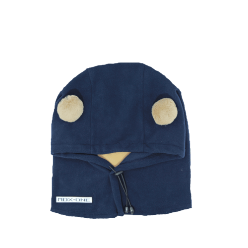 Mdxone Mdxone Balaclava (Over Helmet ) -  Blue (With Pompoms) *Final Sale*