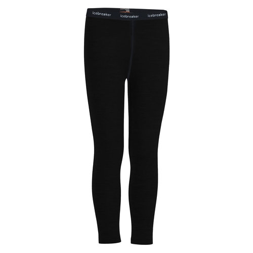 ICEBREAKER Icebreaker Kids 200 Oasis Leggings (20/21) Black-1