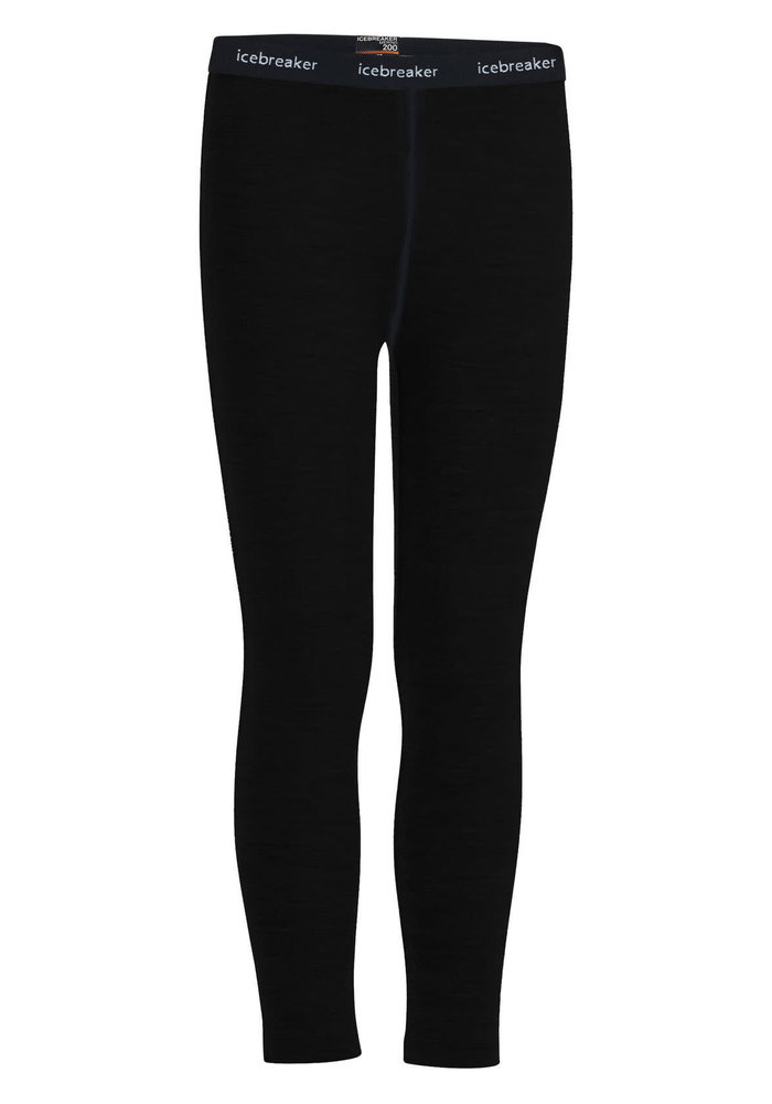 Icebreaker Kids 200 Oasis Leggings (20/21) Black-1