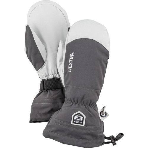 HESTRA HESTRA ARMY LEATHER HELI SKI - MITT (19/20) GREY-350