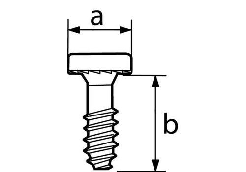 LOOK LOOK PIVOT HEEL MOUNTING HARDWEAR (REAR) (L50 VIS TC 10X12 WHITE)
