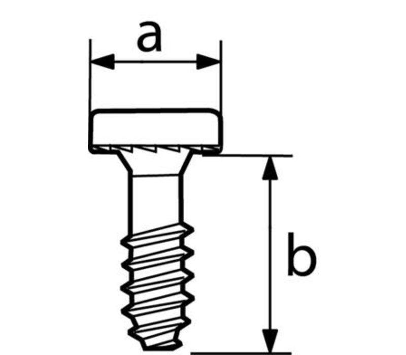 LOOK PIVOT HEEL MOUNTING HARDWEAR (REAR) (L50 VIS TC 10X12 WHITE)