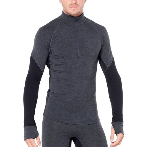Icebreaker Icebreaker Mens 260 Zone Ls Half Zip (20/21) Jet Hthr/Black-A01 *Final Sale*