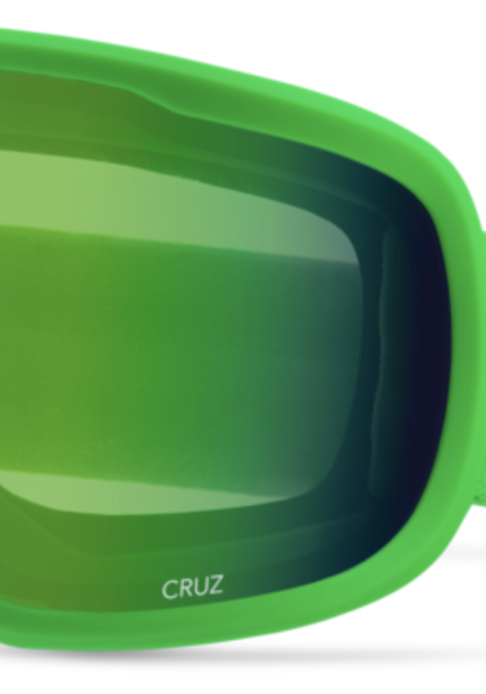 GIRO CRUZ BRIGHT GREEN WORDMARK-LDN GRN (19/20)